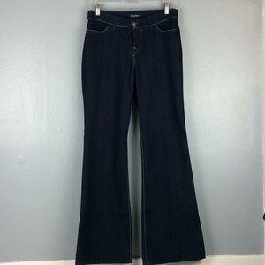 David Kahn Ladies Dark Wash Flare Jeans Sz 30